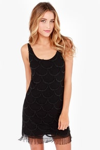 Black Swan North Star Beaded Black Dress at Lulus.com!