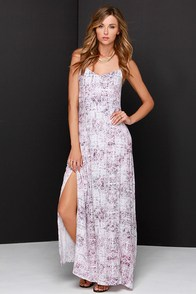 Others Follow Feeling Good Plum Purple Print Maxi Dress at Lulus.com!