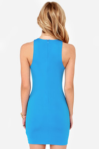Shock Star Bodycon Blue Print Dress at Lulus.com!