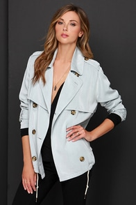 Obey Greenwich Light Grey Jacket at Lulus.com!