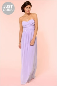 LULUS Exclusive Slow Dance Strapless Lavender Maxi Dress