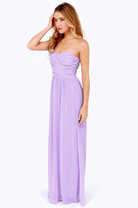 LULUS Exclusive Slow Dance Strapless Lavender Maxi Dress at Lulus.com!