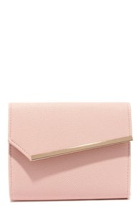 Uptown Chic Blush Pink Clutch at Lulus.com!