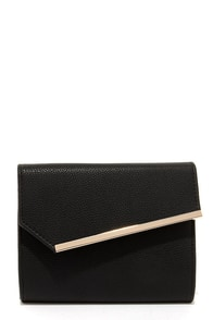 Uptown Chic Black Clutch at Lulus.com!
