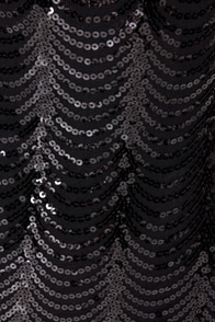 Opera House Black Midi Sequin Dress at Lulus.com!