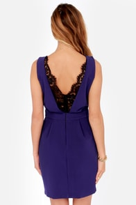 Lace Against Time Royal Blue Lace Dress at Lulus.com!