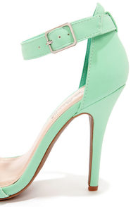 Anne Michelle Enzo 01 Mint Single Strap Heels at Lulus.com!