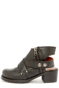 Sixtyseven 75944 Daisy Floater Black Leather Ankle Boots