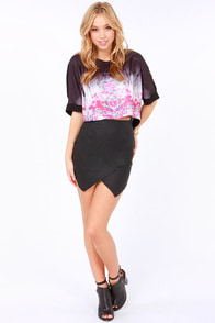 Goulding Girl Black Neon Print Crop Top at Lulus.com!