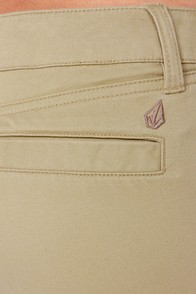 Volcom Frochickie Khaki Skinny Pants at Lulus.com!