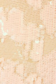 Frappe Partay Peach Sequin Dress at Lulus.com!