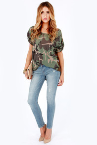 Dittos Selena Distressed Antique Wash Ankle Skinny Jeans at Lulus.com!