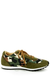 Promise Diesel Olive and Camo Print Sneakers at Lulus.com!