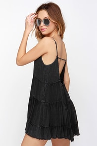 Bare Mini-mum Washed Black Dress at Lulus.com!