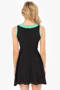 Lucy Love Chantilly Mint and Black Dress at Lulus.com!