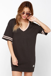 Obey Shadow Mountain Washed Black Dress at Lulus.com!