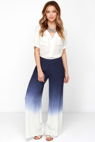 Jack of all Fades Blue Dip-Dye Wide Leg Pants at Lulus.com!