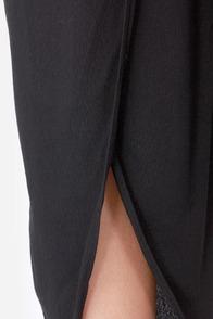 Aryn K Tulip of a Kind Black Pants at Lulus.com!