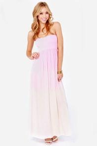 Element Eden Mandala Strapless Pink Dip-Dye Dress at Lulus.com!