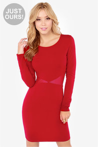 LULUS Exclusive Cute Be Told Wine Red Dress at Lulus.com!
