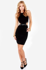 LULUS Exclusive A Fair Shake Cutout Black Dress at Lulus.com!