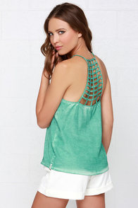 RVCA Fight or Flight Washed Mint Green Top at Lulus.com!