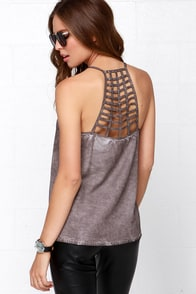 RVCA Fight or Flight Washed Brown Top at Lulus.com!