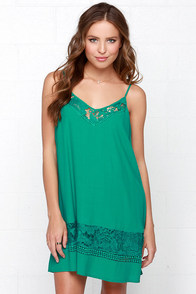 Daily Delight Emerald Green Slip Dress at Lulus.com!