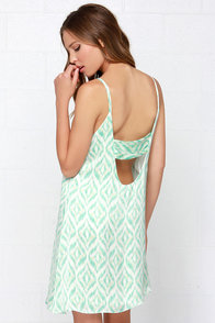 Optical Phenomenon Mint Print Dress at Lulus.com!