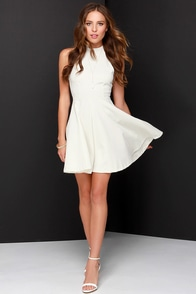 Others Follow Destiny Ivory Skater Dress at Lulus.com!