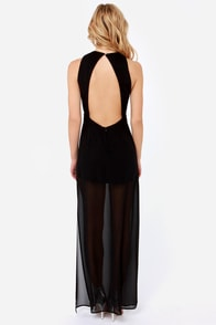 Dazzling with the Stars Beaded Black Maxi Dress at Lulus.com!