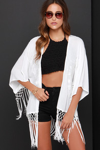 Glamorous Spirit Guide Embroidered Ivory Kimono Top at Lulus.com!
