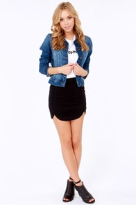 Notch Ya Good Black Mini Skirt at Lulus.com!
