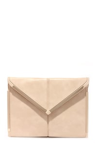 Secret Admirer Blush Clutch at Lulus.com!