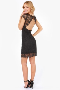 Rubber Ducky Suite Life Backless Black Lace Dress at Lulus.com!