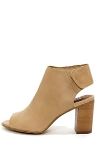 Steve Madden Nonstp Natural Leather Peep Toe Booties at Lulus.com!