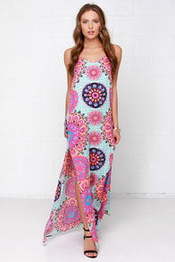 Mink Pink Mandala Dreams Fuchsia Print Maxi Dress at Lulus.com!