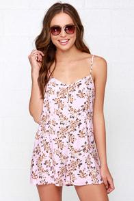 Mink Pink Floral Light Pink Floral Print Romper at Lulus.com!