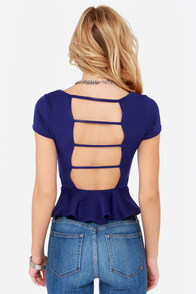 LULUS Exclusive Loud and Clear Blue Peplum Top at Lulus.com!
