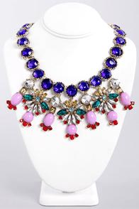 Berried Treasure Blue Rhinestone Necklace at Lulus.com!