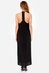 Lucy Love Sunset Black Lace Maxi Dress at Lulus.com!