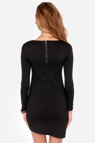 LULUS Exclusive All the Angles Black Dress at Lulus.com!