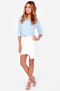 To the Letter Ivory Envelope Skirt at Lulus.com!