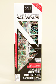 NCLA Flash Fete Abalone Shell Nail Wraps at Lulus.com!