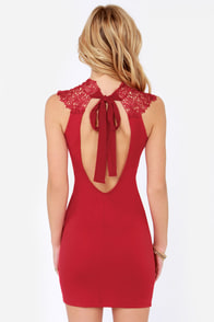 Renaissance Court Lace Red Dress at Lulus.com!
