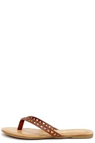 Shape Up Chestnut Brown Cutout Flip Flops at Lulus.com!