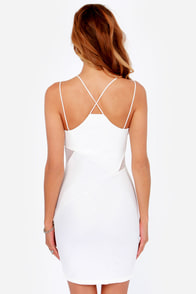 LULUS Exclusive Slant Be Tamed Ivory Bodycon Dress at Lulus.com!