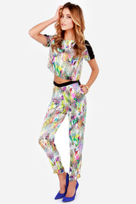 Fancy Trance Multi Print Harem Pants at Lulus.com!
