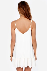 Let It Flow Ivory Dress at Lulus.com!