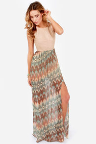 Sunset on the Mesa Southwest Print Maxi Dress at Lulus.com!